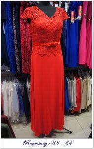 sukienka długa z koronką