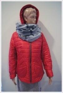 kurtka damska czerwona pikowana