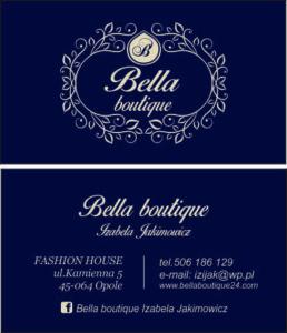 wizytówka Bella boutique