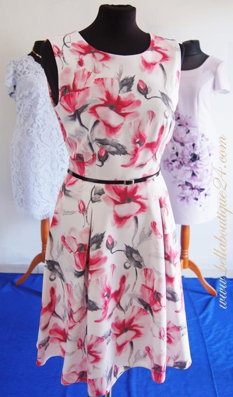 sukienka w kwaity